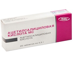 Acetylsalicylic acid tablets 500 mg