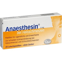 Anesthesin tablets