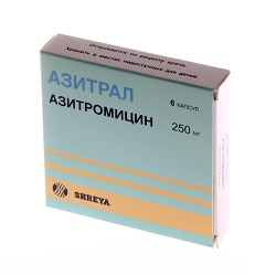 Azitral Capsules 250 mg